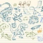 Sketch Doodle Mega Vector Set — Stock Vector #2713844