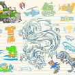 Mega Doodle Sketch Vector Set — Stock Vector #2715947