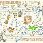 Mega bosquejo doodle vector conjunto — Vector de stock  #2718297