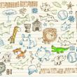 Mega skica doodle vektorové sada — Stock vektor