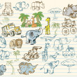 Royalty-Free Stock Vector Image: Mega Doodle Sketch Set Vector Collection
