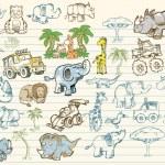 Mega Doodle Sketch Set Vector Collection — Stock Vector
