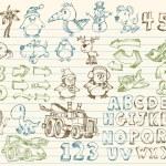 Mega doodle desenho vetorial conjunto — Vetorial Stock  #2718604