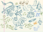 Schets doodle mega vector set — Stockvector