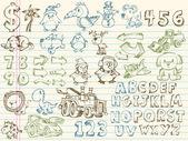 Mega doodle skica vektorové sada — Stock vektor