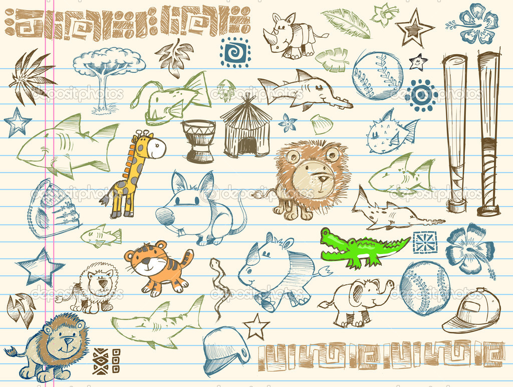 Mega Sketch Doodle Vector Set Collection  Stock Vector #2718297
