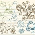 Mega Doodle Sketch Vector Set — Stock Vector #2729332