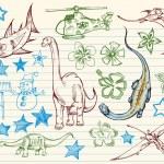 Mega Doodle Sketch Vector Set — Stock Vector #2729334