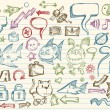 Mega Doodle Sketch Vector Set — Stock Vector #2741598