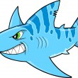 Stock Vector: Blue Tough Shark Vector