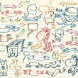Mega Doodle Sketch Vector Set - Stock Vector