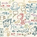 Mega Doodle Sketch Vector Set — Stock Vector #2778920