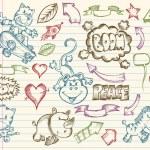 Mega Doodle Sketch Vector Set — Stock Vector #2793660