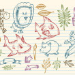 Mega Doodle Sketch Vector Collection — Stock Vector