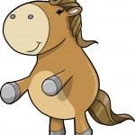 Cute Pony Horse — Stock Vector