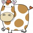 Cute Cow Vector — Stock Vector