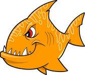 Range fish shark Vector Illustration — Stock Vector