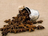 Aromatic anise in small bucket — Stock Photo