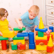 Stock Photo: Children play with toys