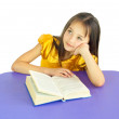 Royalty-Free Stock Photo: Girl with a book thought