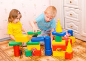 Children play with toys — Stock Photo