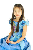 Portrait of the girl in a beautiful dress — Stock Photo