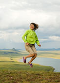 The girl has jumped — Stock Photo