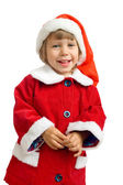 The child in a suit of Santa Claus — Stock Photo