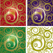 Seamless with gold ornament - Imagen vectorial
