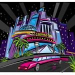 The city night scene — Stock Vector #2693744