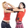 Two girlfriends fighting - Stock Photo