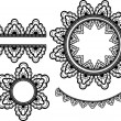 Set of vector lace elements — 图库矢量图片