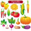 Stock Vector: Vegetables