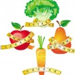 Royalty-Free Stock Imagen vectorial: Vegetable with measuring tape