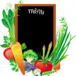 Royalty-Free Stock Vector Image: Board menu with a group of vegetables