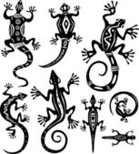 Decorative lizards — Stock Vector