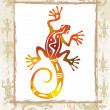 Color lizard in a frame - 