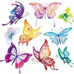 Colored butterflies — Stock Vector