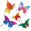 Colored butterflies — Stockvectorbeeld