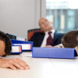 Young business team exchausted and over worked — Stock Photo #3809965