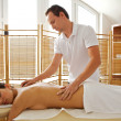 Young woman receiving massage — Stock Photo #3813459
