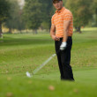 Young man playing golf - 