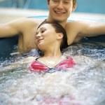 Couple bathing at jacuzzi — Stock Photo #3815862