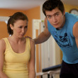 Man and Woman Talking in Health Club — Stock Photo #3816047