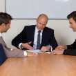 Businessmen in meeting at board room — Stock Photo #3818776