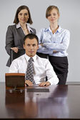 Portret firmy w urzędzie — Zdjęcie stockowe