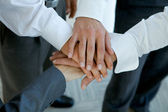 Business group connecting hands — Stock Photo