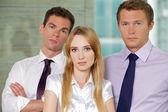 Portret biznesmenów w urzędzie — Zdjęcie stockowe