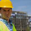 Portrait of engineer wearing hardhat — Stock Photo #3822384