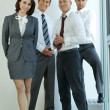 Portrait of young caucasian business in office — Stock Photo